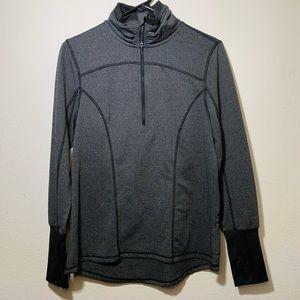 Grey athletic half zip fitted jacket